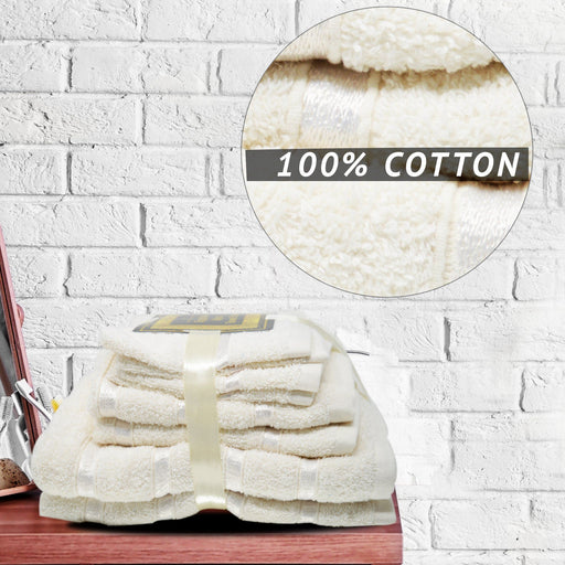 500GSM 8 Piece Luxury 100% Egyptian Cotton Bath Towels Set Ultra Absorbent Silver - Towelogy
