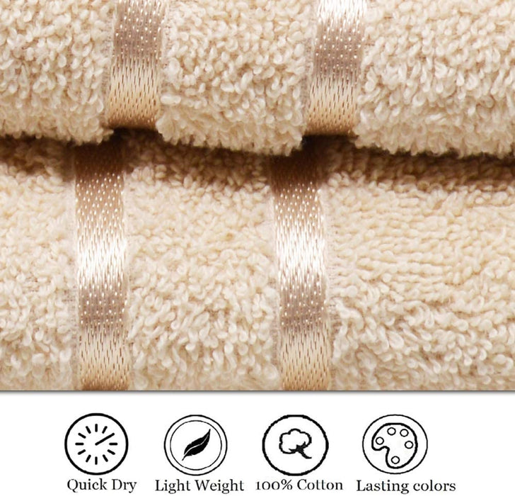 Coffee Hand Towels Reusable Egyptian Cotton Gentle Absorbent - Towelogy