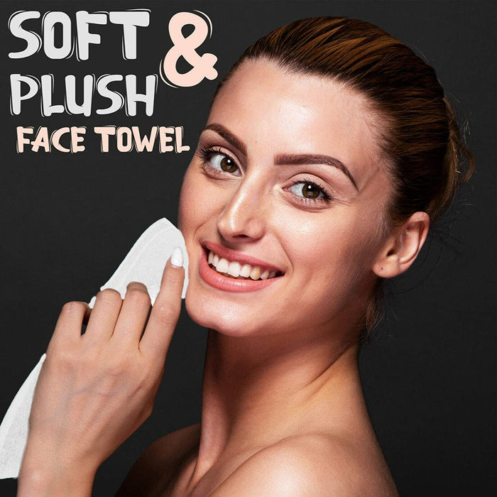 Luxury Cotton Washcloths White 600GSM Quick Dry Face Cloths - Towelogy