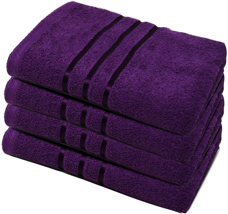 Purple Hand Towels Reusable Egyptian Cotton Gentle Absorbent - Towelogy