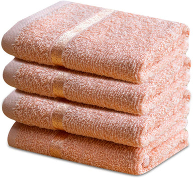 Reusable Face Cloths Egyptian Cotton Soft Peach Washcloths - Towelogy