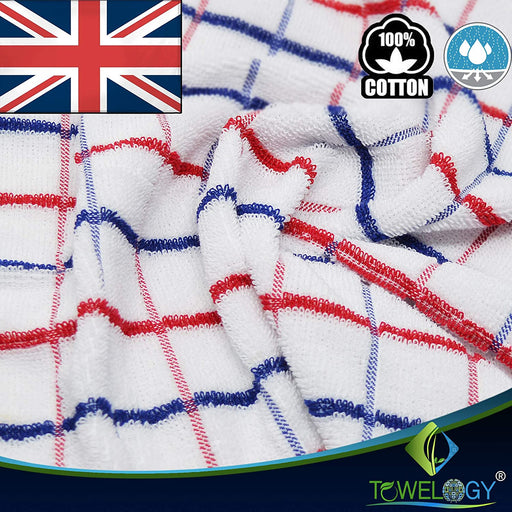 Cotton Tea Towels Dobby Weave British Brexit Kitchen Towels - Towelogy