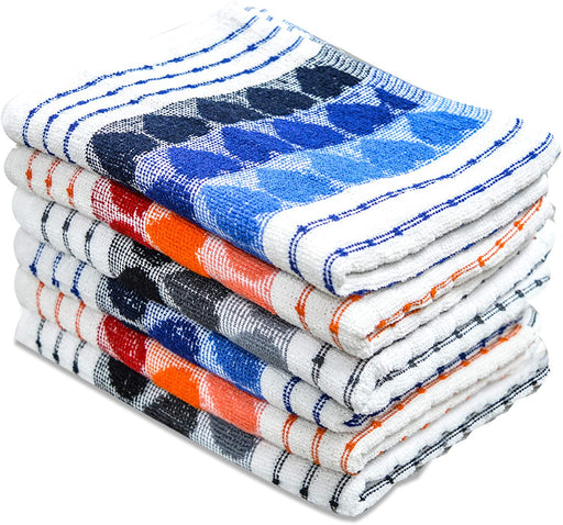 Cotton Kitchen Terry Tea Towels Set Heart Print Tea Towels - Towelogy