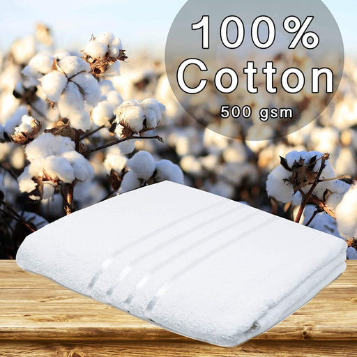 Cotton White Jumbo Bath Sheets Extra Large Thick Bathroom Towels - Towelogy