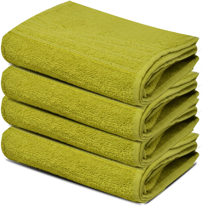 Hand Towels Reusable Lime Egyptian Cotton Gentle Absorbent - Towelogy