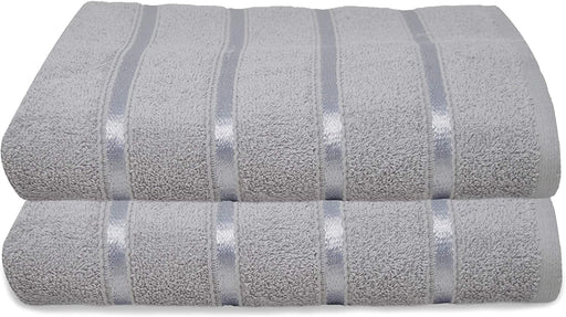 Silver Bath Sheets Extra Large Gentle Thick Bathroom Towels - Towelogy