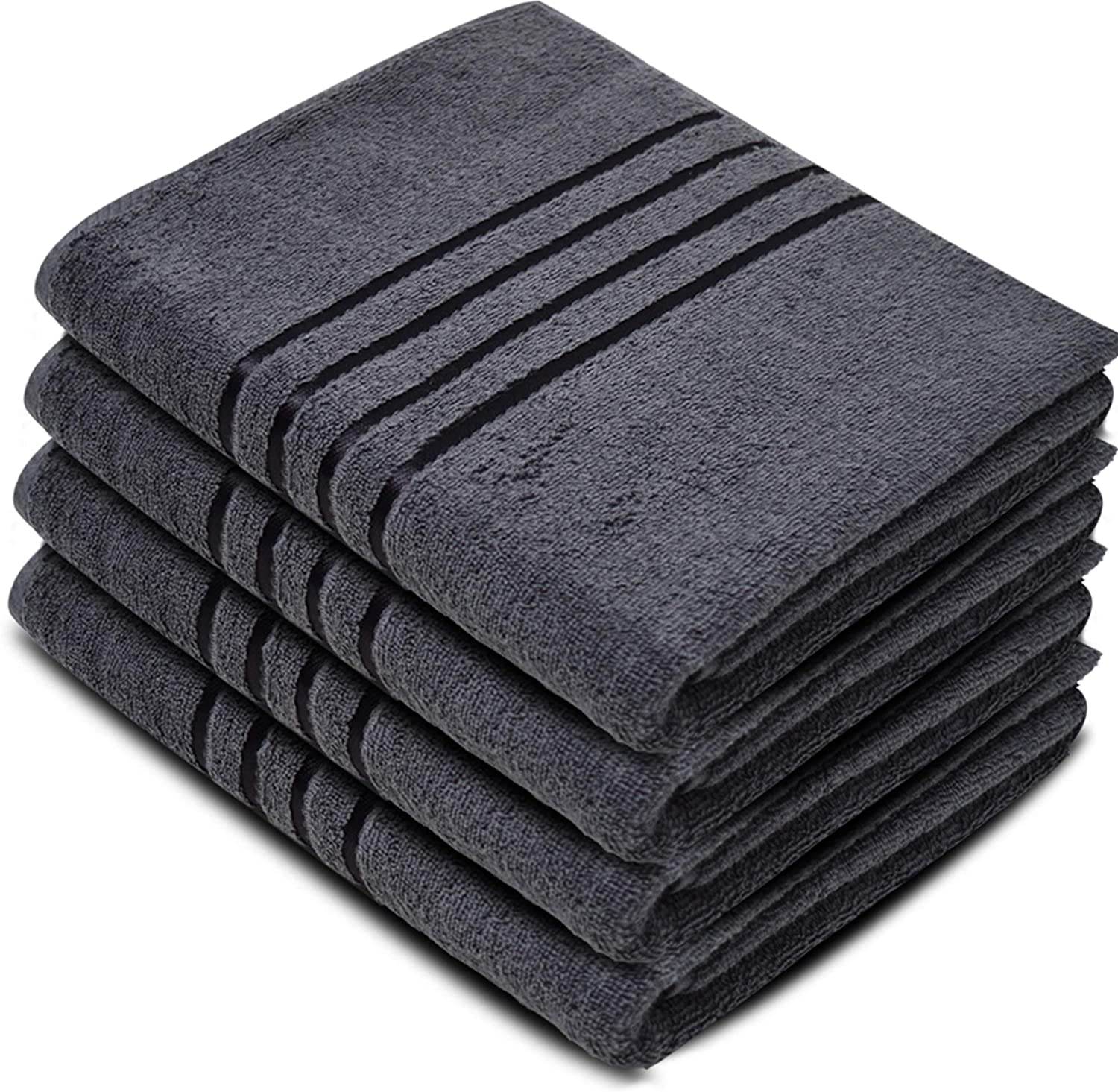 Cotton Grey Jumbo Bath Sheets Extra Large Thick Bathroom Towels - Towelogy