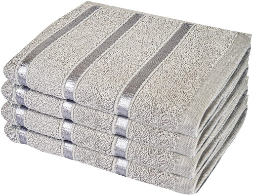 Cotton Silver Jumbo Bath Sheets Extra Large Thick Bathroom Towels - Towelogy