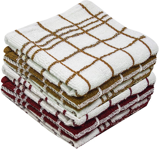 Jumbo Terry Cotton Tea Towels Kitchen Dish Drying Cloths Assorted - Towelogy