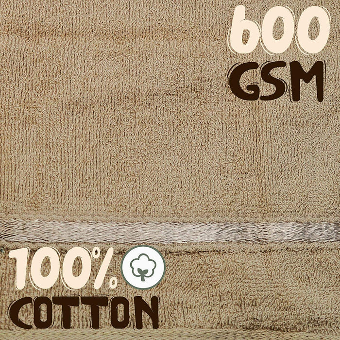 Luxury Cotton Washcloths Coffee 600GSM Quick Dry Face Cloths - Towelogy