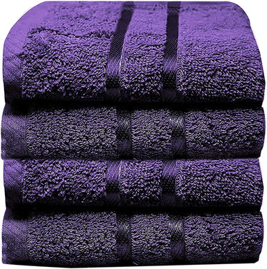 Luxury Cotton Washcloths Plum 600GSM Quick Dry Face Cloths - Towelogy