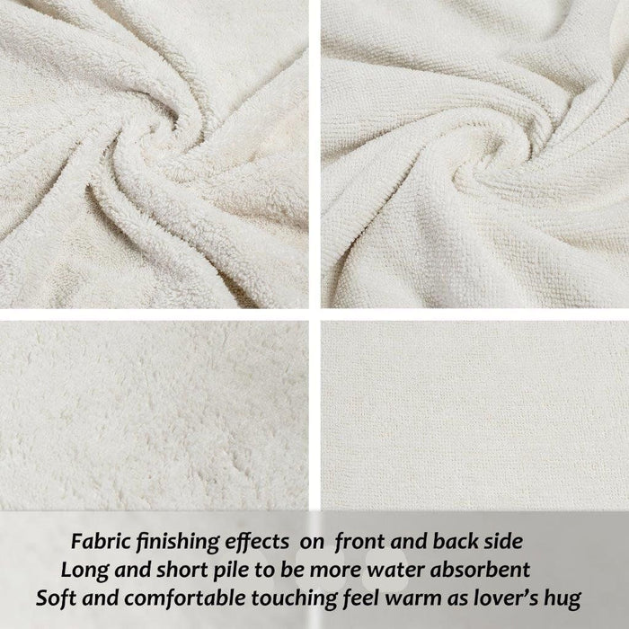 Microfibre Large Basketball Towels AntiStatic White Extra Large Size 70x140cm - Towelogy
