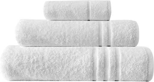 Bathroom Bale Set Terry Cotton White Extra Large hand Bath Sheets 3pc - Towelogy