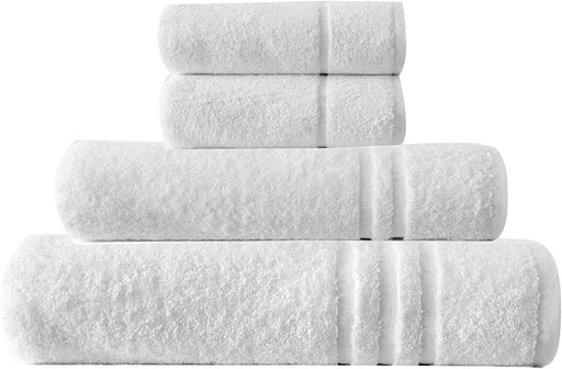 Bathroom Bale Set Terry Cotton White Extra Large hand Bath Sheets 4pc - Towelogy