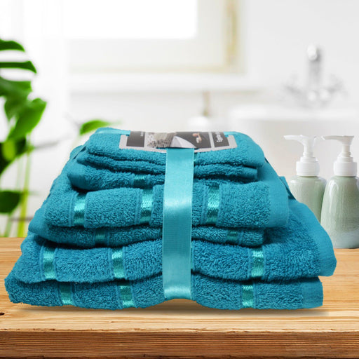 500GSM 8 Piece Luxury 100% Egyptian Cotton Bath Bale Set Ultra Absorbent Towels - Towelogy