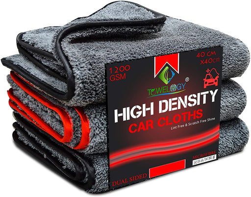Microfibre Car Cloths Plush High Density Dual Power Auto Buffing Towels - Towelogy