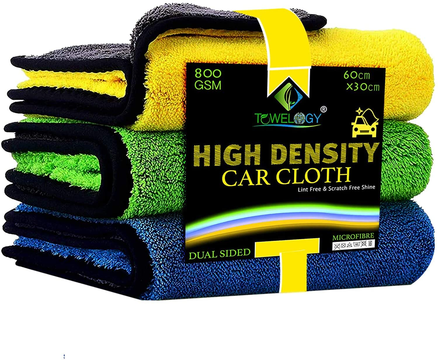 Microfibre Car Drying Cloth High-Density 800GSM Car Towels Assorted - Towelogy
