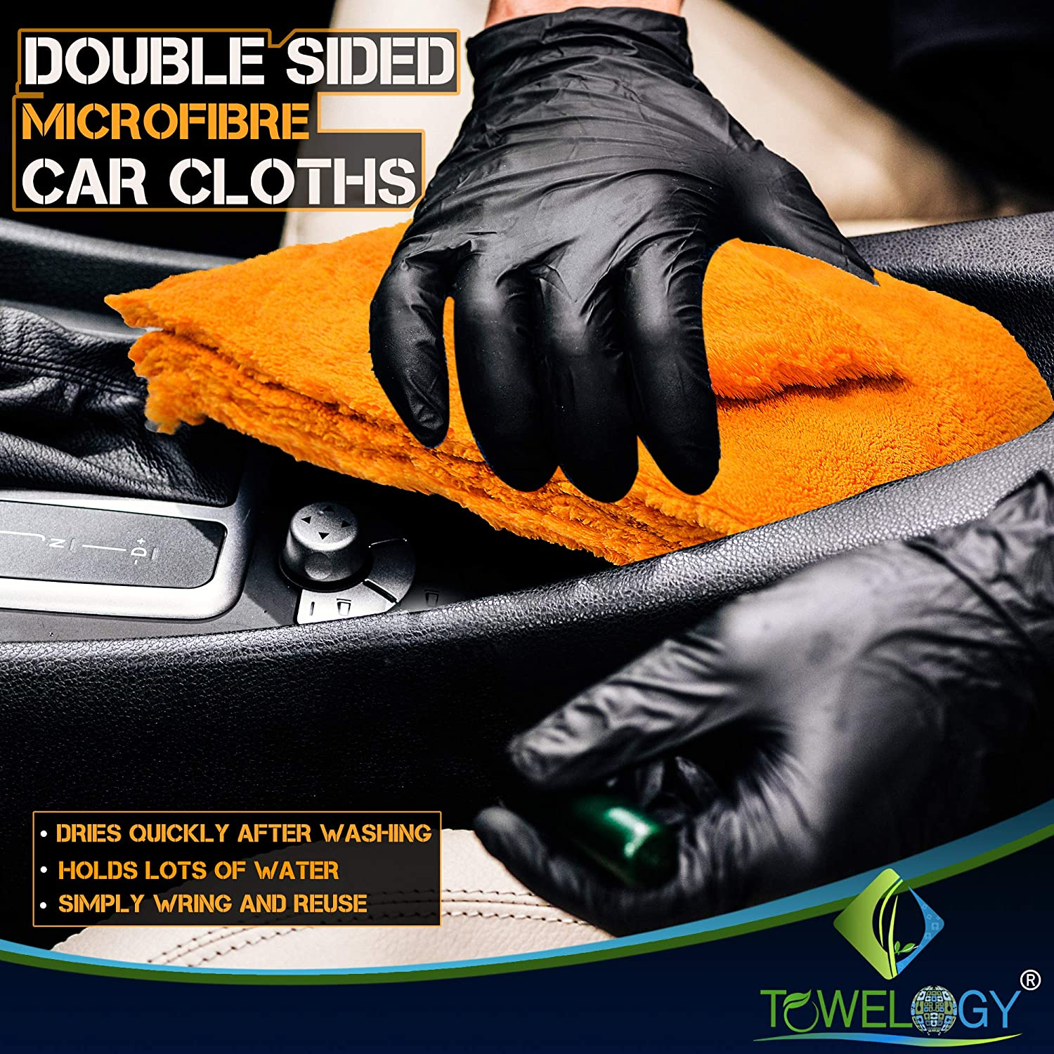 Microfibre Edgeless Car Cleaning Drying Cloth Quick Dry Super Plush - Towelogy