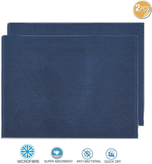 Dish Drying Mats Microfibre Absorbent Navy Blue for Kitchen - Towelogy