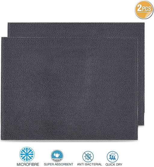 Dish Drying Mats Microfibre Absorbent Reversible for Kitchen - Towelogy