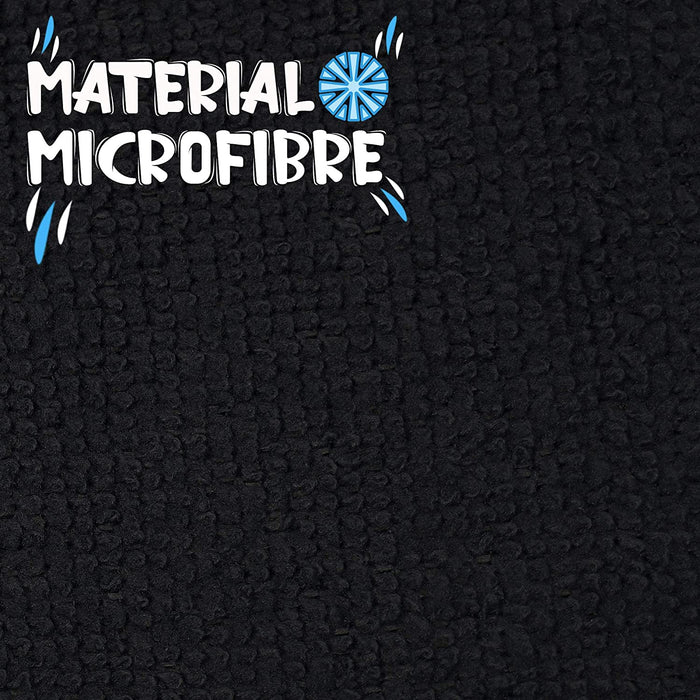 Dish Drying Mats Microfibre Absorbent Reversible for Kitchen Black - Towelogy