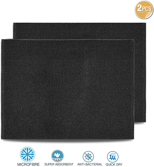 Dish Drying Mats Microfibre Grey Reversible for Kitchen ` - Towelogy