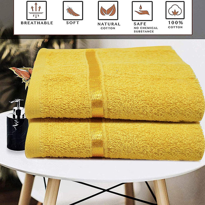 Egyptian Cotton Washcloths Hypoallergenic Face Cloths Ochre - Towelogy