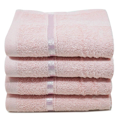 Reusable Face Cloths Egyptian Cotton Blush Pink Washcloths - Towelogy