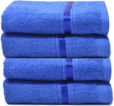 Reusable Face Cloths Egyptian Cotton Royal Blue Washcloths - Towelogy