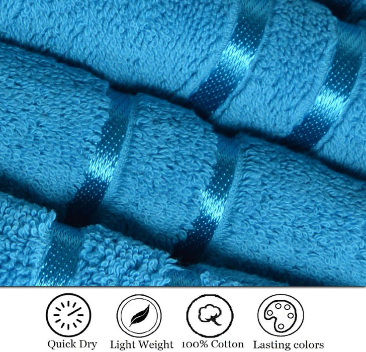 Reusable Face Cloths Egyptian Cotton Teal Washcloths Hypoallergenic - Towelogy