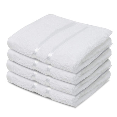 Reusable Face Cloths Egyptian Cotton Washcloths Supreme White - Towelogy