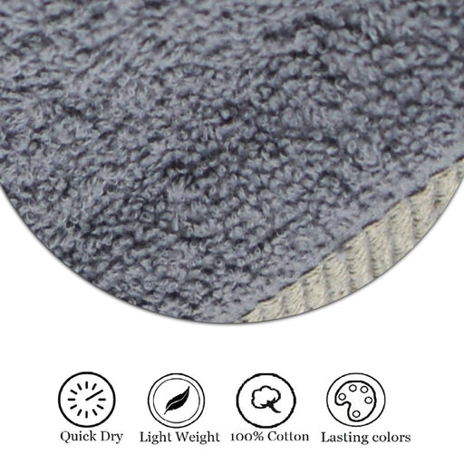 450GSM Luxury 100% Organic Egyptian Cotton Hand Towels Charcoal (50x80cm) - Towelogy