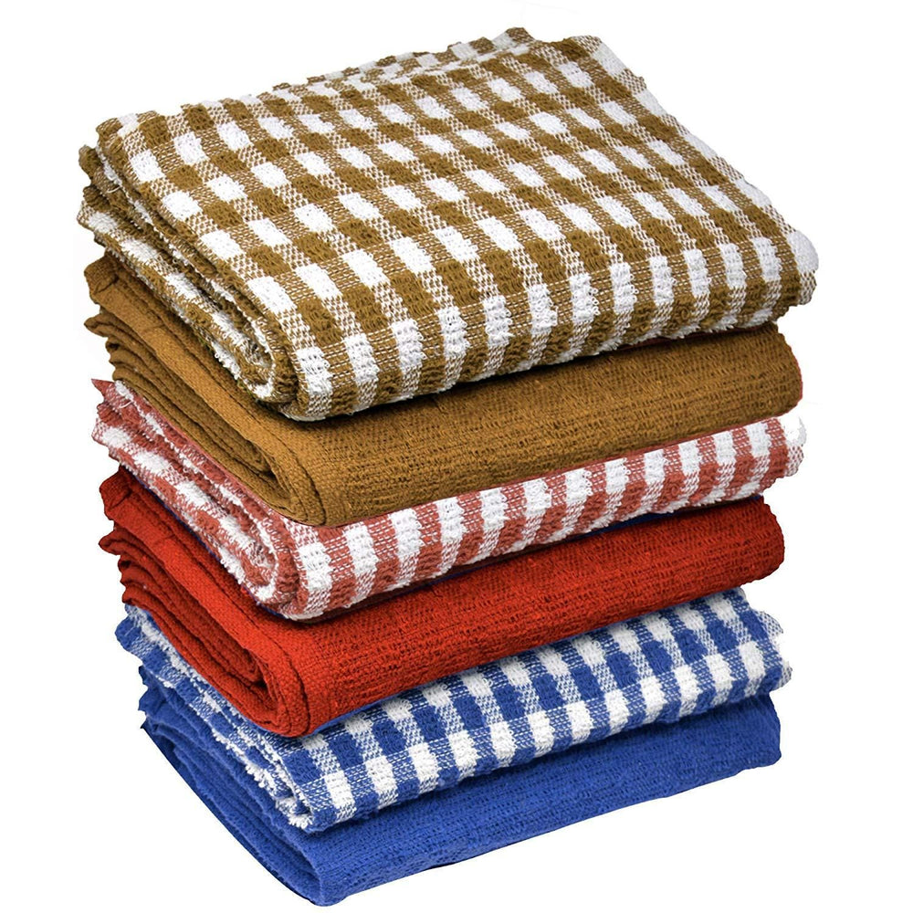 Organic Cotton Terry Tea Jumbo Drying Cloth Assorted Towels 60x45cm - Towelogy