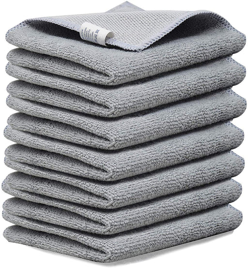 Microfibre Dish Cloth Scrubber Side Mesh Backing Grey Kitchen Towels - Towelogy