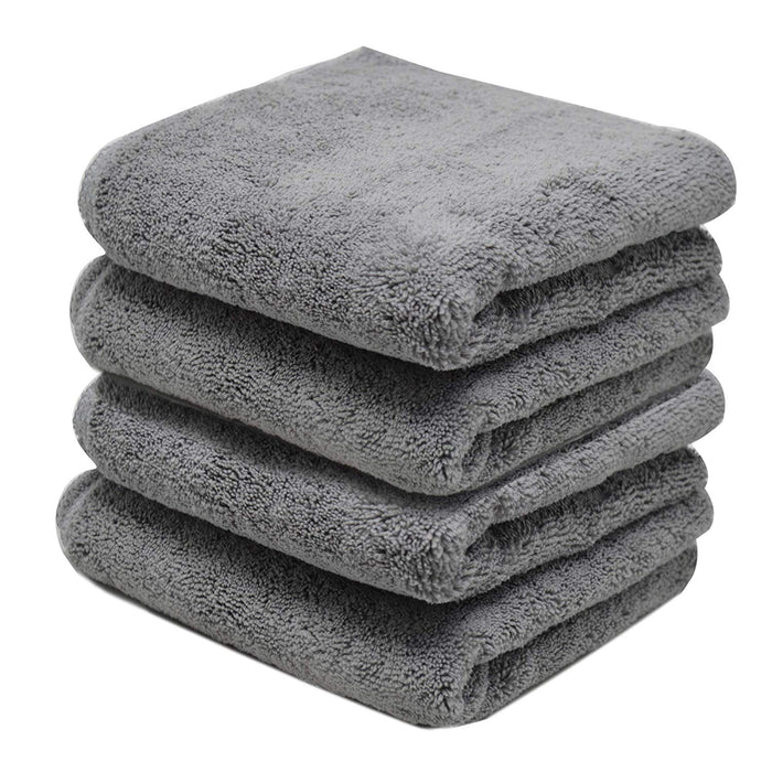 Microfibre Grey Kitchen Towels Multi Purpose Cloths 12 Pack Lint Free - Towelogy