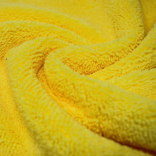 Microfibre Yellow Cleaning Cloths 420GSM Plush Dual Sided Polishing Cloth - Towelogy