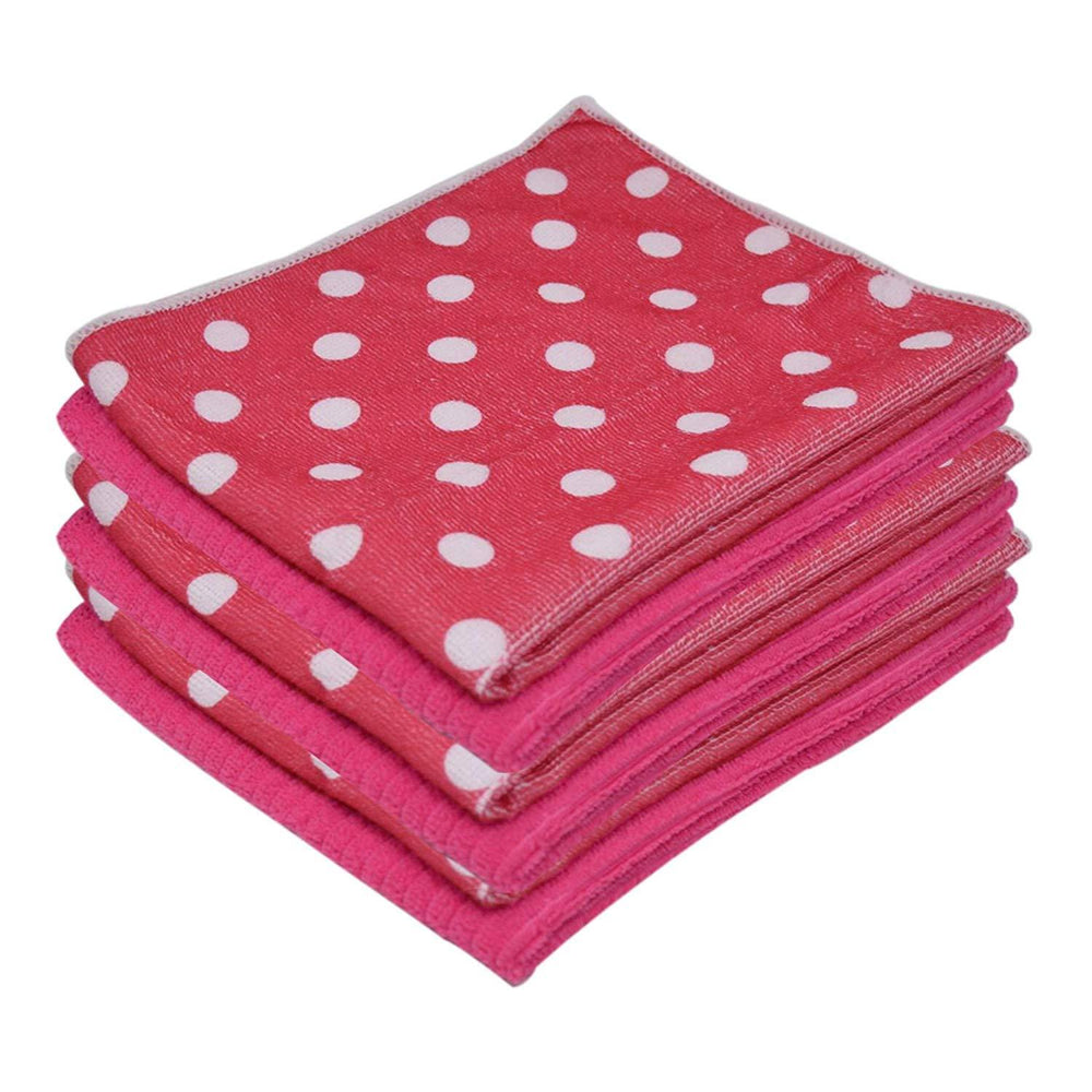 Microfibre Patterned Absorbent Printed Pink Kitchen Tea Towels 40x47cm - Towelogy
