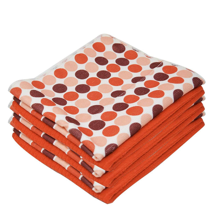 Microfibre Patterned Polka Dot Print Kitchen Tea Towels 40x47cm - Towelogy