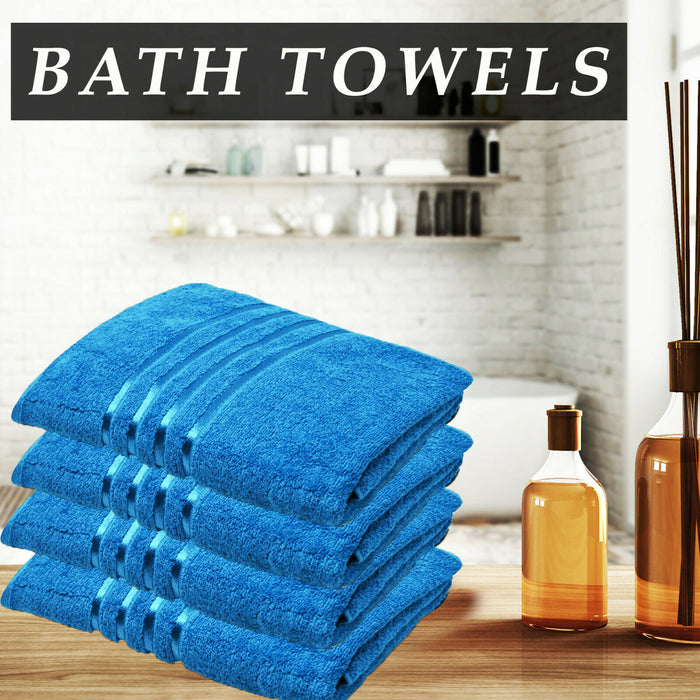 Cotton Teal Bath Towels Absorbent Hotel Quality for Everyday Use - Towelogy
