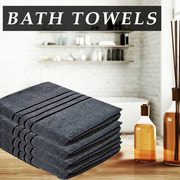 Cotton Grey Bath Towels Absorbent Hotel Quality for Everyday Use - Towelogy