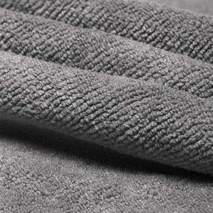 Microfiber Sports Travel Towel with Pouch AntiBacterial Grey 37x100cm - Towelogy