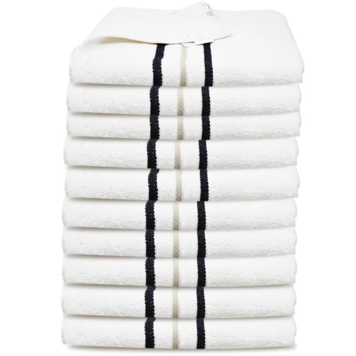 450GSM Luxury 100% Organic Egyptian Cotton Hand Towels White (50x80cm) - Towelogy