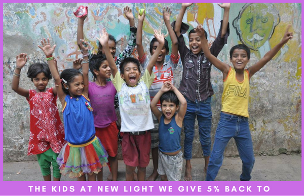 We give back to survivors of trafficking at New Light