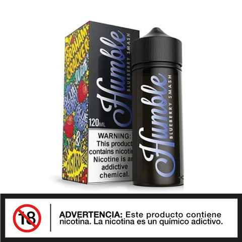Humble 120ml Blueberry Smash E-liquid - Distribuidora Quinto Elemento