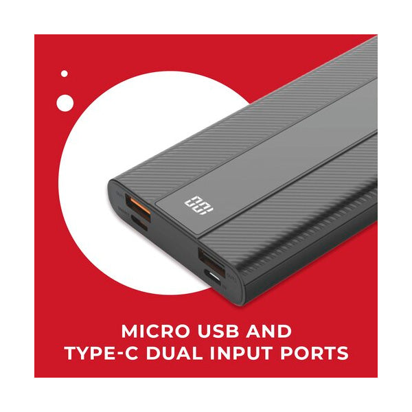 Pivoi 10000mAh Power Bank with dual USB and PD Port