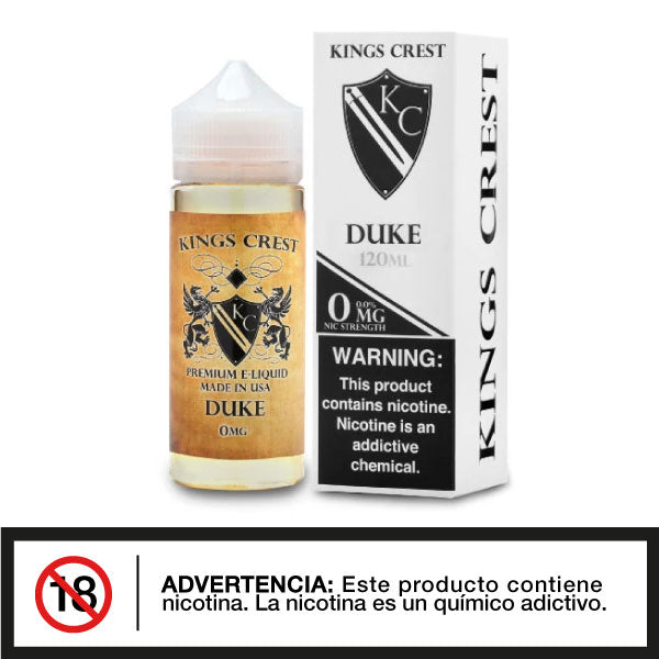 King Crest Duke 120ml - Distribuidora Quinto Elemento