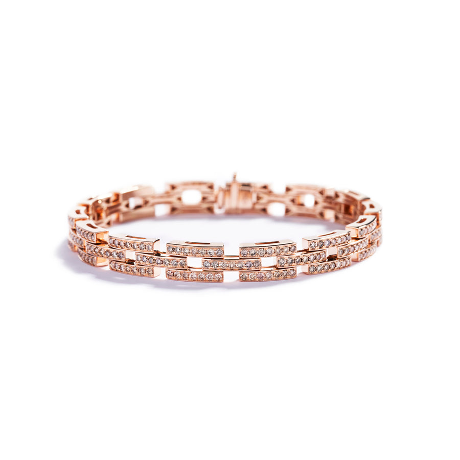 Diamantarmbånd med 3,28 ct. Argyle Champagne diamanter