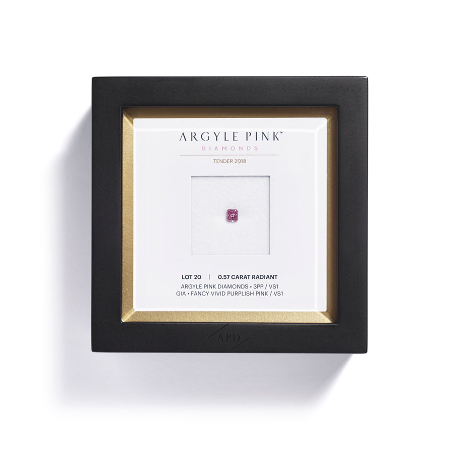 Argyle Pink Tender radiant-cut diamant 0,57 ct.