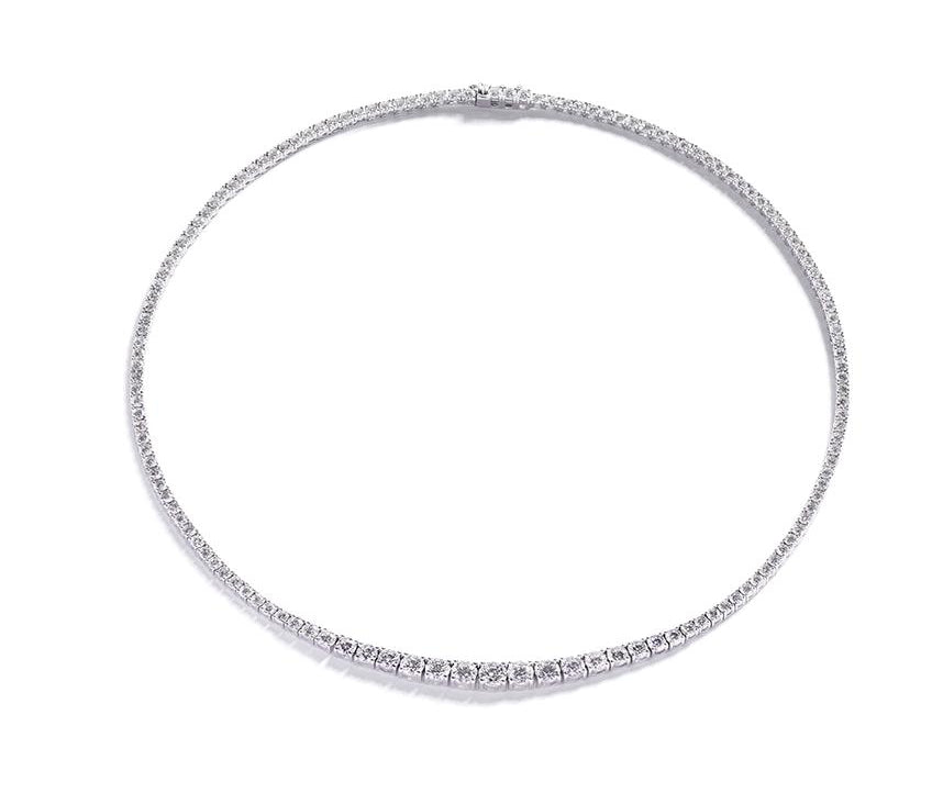 Diamant collier med 12,13 ct. brillanter