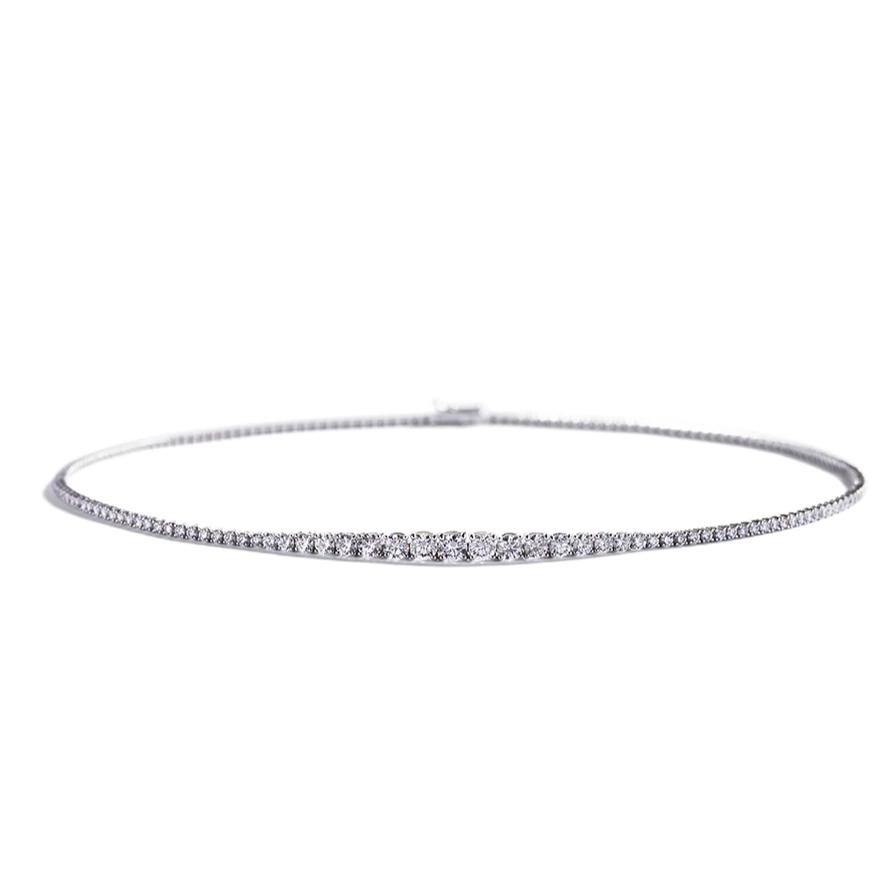 Diamant Collier med 4,51 ct. brillanter